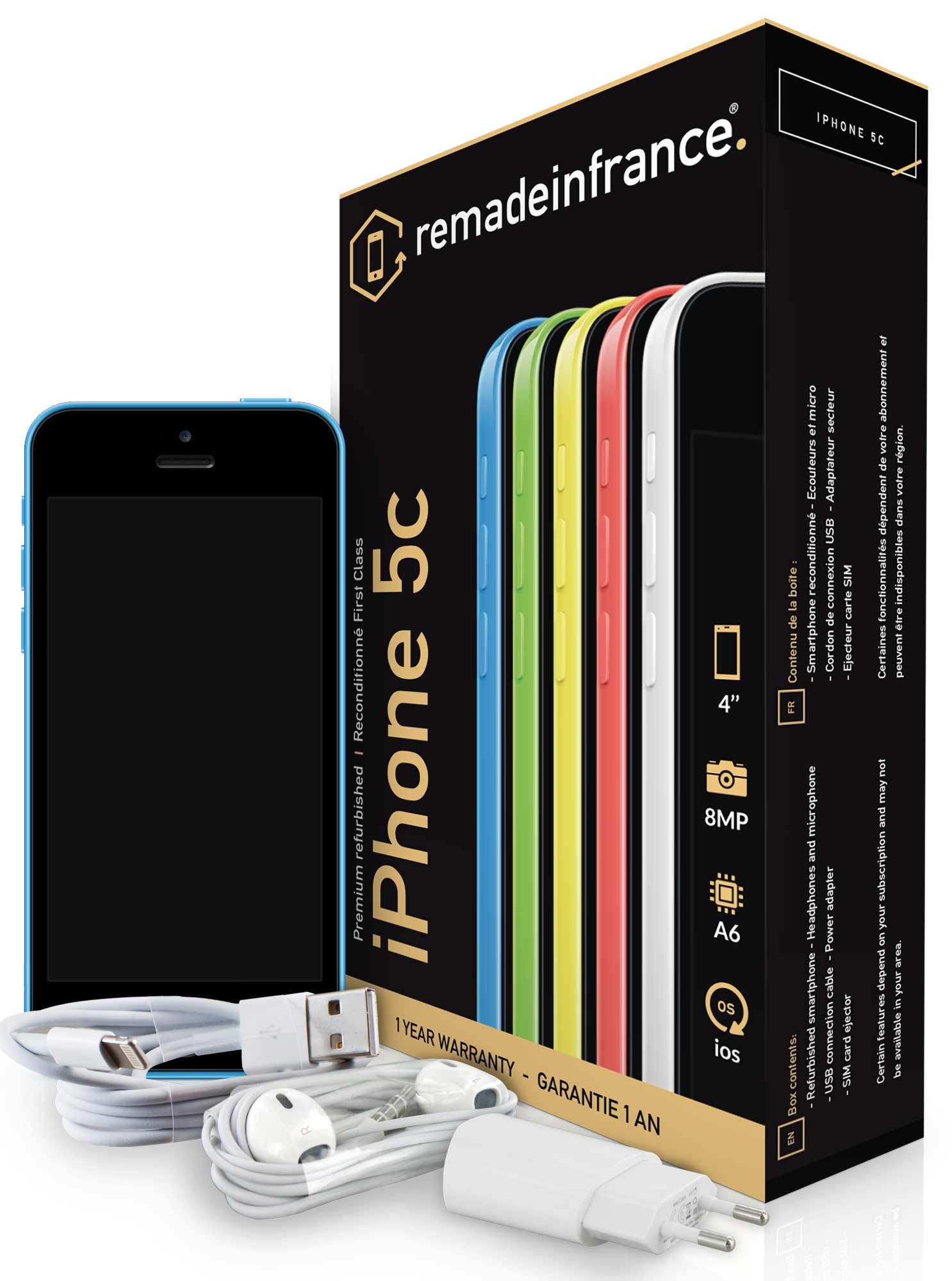 apple iphone reconditionn neuf iphone 5c. Black Bedroom Furniture Sets. Home Design Ideas