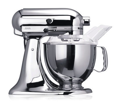 KitchenAid - Robot sur socle Artisan Chrome 4.8L (5KSM150PSECR)