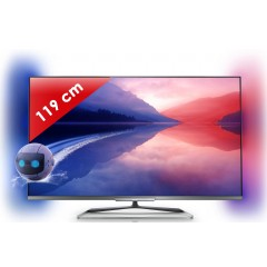 Philips - 47PFL6678K/12 - LED Full HD - 6000 Série - 47 pouces (119 cm) - 700 Hz - HD TV 1080p - 3D Passive - Smart TV - Ambilight