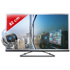 PHILIPS - 32PFL4508H/12 Edge Led 4000 series - 32 pouces (82 cm) - 200 Hz - HD TV 1080p - Technologie 3D active - Smart TV (TV connectée) - DLNA + Internet