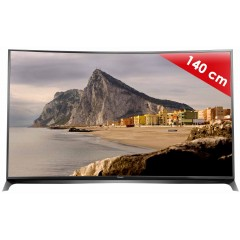 PANASONIC - TX-55CR850E - 55 pouces (140 cm) - Incurvé - UHD /4K - 1600 Hz BMR - 3D active - Smart TV