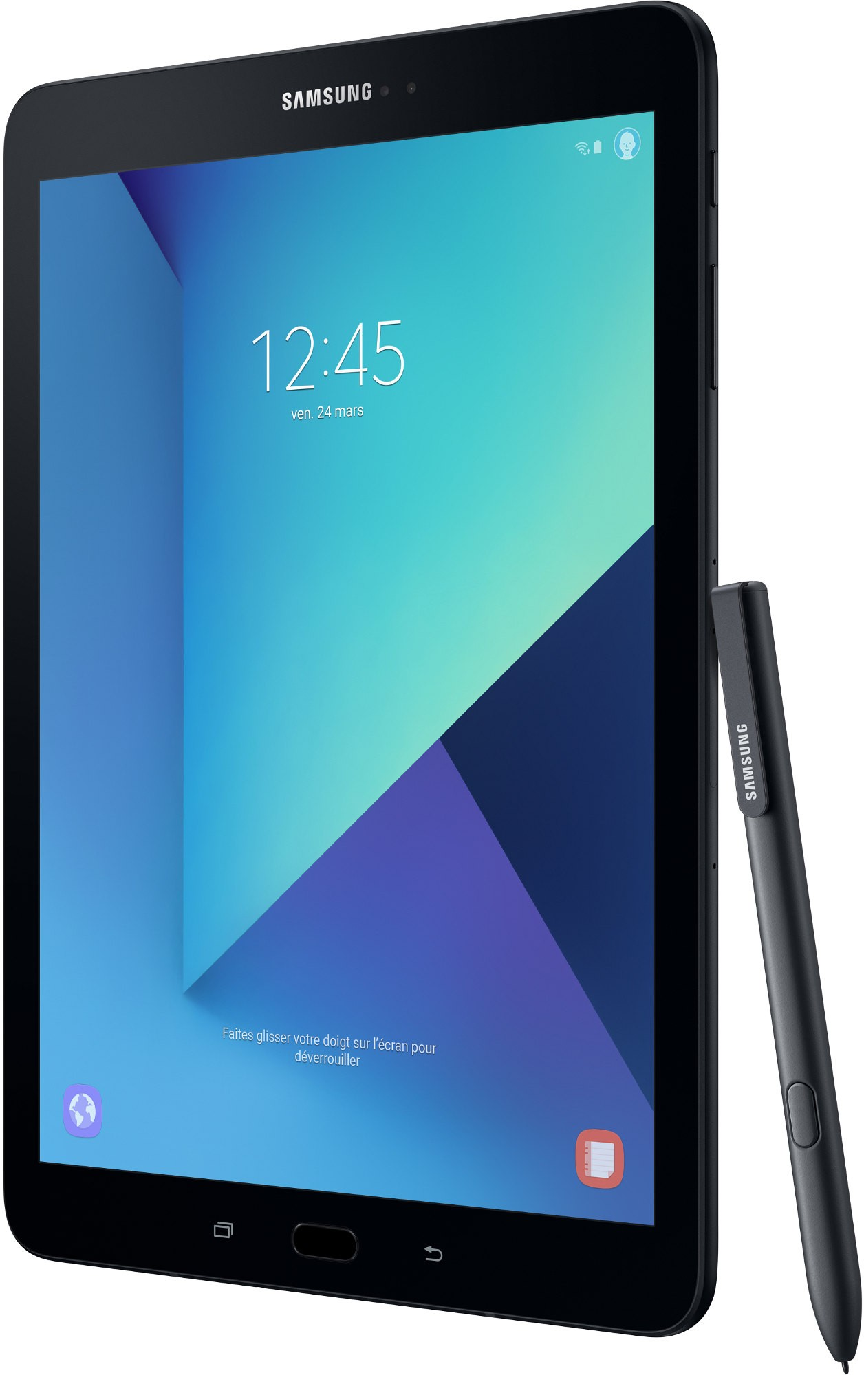 samsung galaxy tab s3 noir 9 7 pouces android 7 0 4g. Black Bedroom Furniture Sets. Home Design Ideas