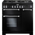 FALCON › FALCON - KCH 90 DFBLC EU - Kitchener 90 Gaz Noir mat / Chrome