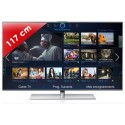 SAMSUNG › SAMSUNG - UE46F7000 Séries 7 Edge LED - 46 pouces (117 cm) - 800 Hz - HD TV 1080p - Technologie 3D active - Smart TV (TV connectée) - Smart Interaction