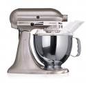 KITCHENAID › KitchenAid - Robot sur socle Artisan Nickel Brossé 4.8L (5KSM150PSENK)