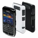 MUVIT › Coque Blackberry Muvit s arrieres noire & blanche & screen pr 9700