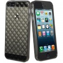 MUVIT › Coque iPhone 5S / 5, muvit MiniGEL damier transparent Gris avec Film Protecteur