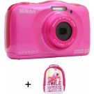 NIKON - COOLPIX W 100 ROSE+SAC A DOS