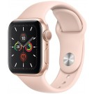 APPLE Watch Series 5 GPS 40 mm Or / Bracelet Silicone Rose des sables - MWV 72 NF/A