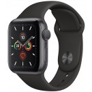 Apple Watch Series 5 GPS 40 mm Gris Sidéral + Bracelet Silicone Noir - MWV 82 NF/A