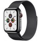 Apple Watch Series 5 GPS + Cellular 44 mm Noir Sidéral + Bracelet milanais Noir