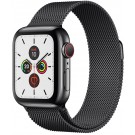 Apple Watch Series 5 GPS + Cellular 40 mm Noir Sidéral + Bracelet Milanais